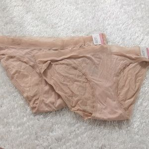 New with Tags Two Pairs of Nude Underwear Large